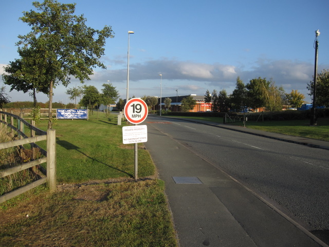 Road into Broughton Shopping Park