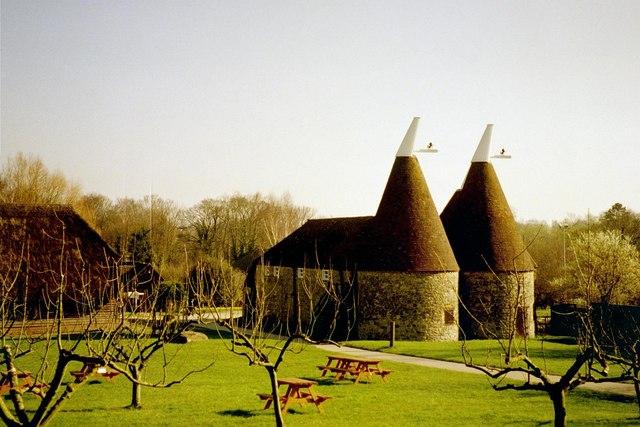 Oast House at The Museum of Kent Life, Cobtree, Lock Lane, Sandling, Kent