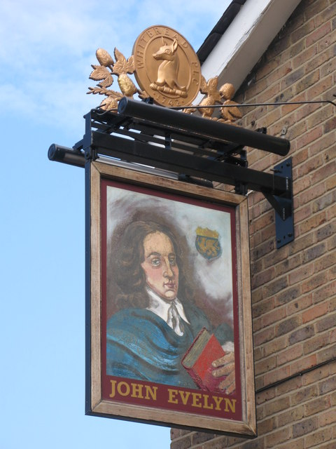 Sign for The John Evelyn, Evelyn Street, SE8