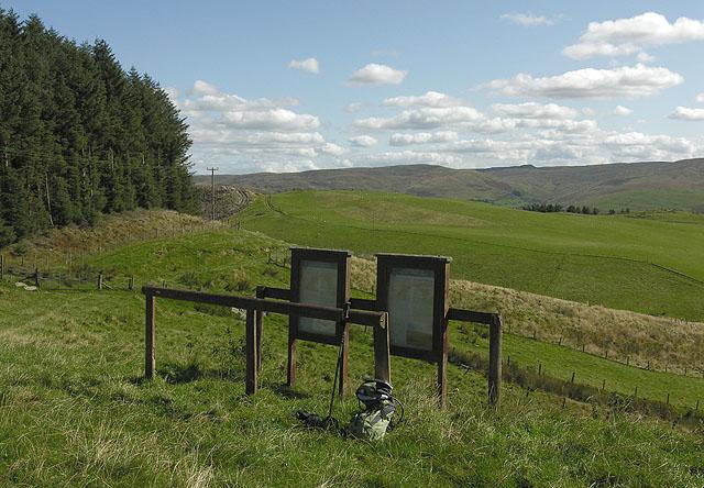 Information display on the Pwllpeiran Trail