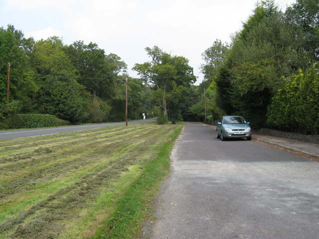 Residential road running parallel to the A281