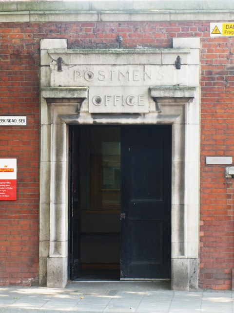 Entrance of the Postmen's Office, Creek Road, SE8