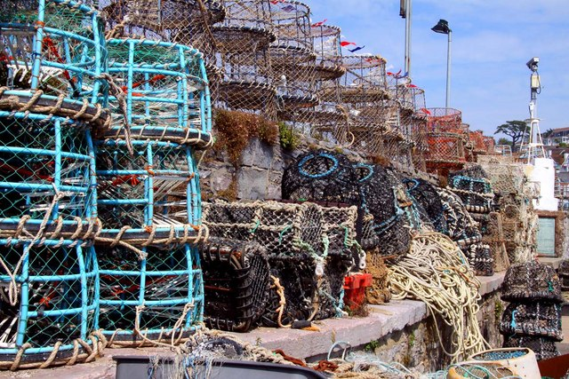 Lobster and crab pots in Brixham