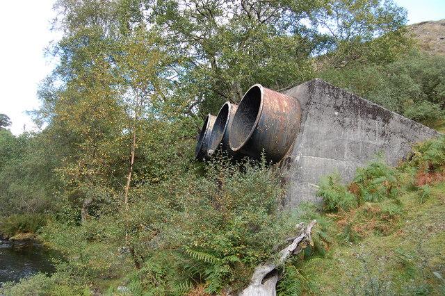 Loch Doon overflow pipes
