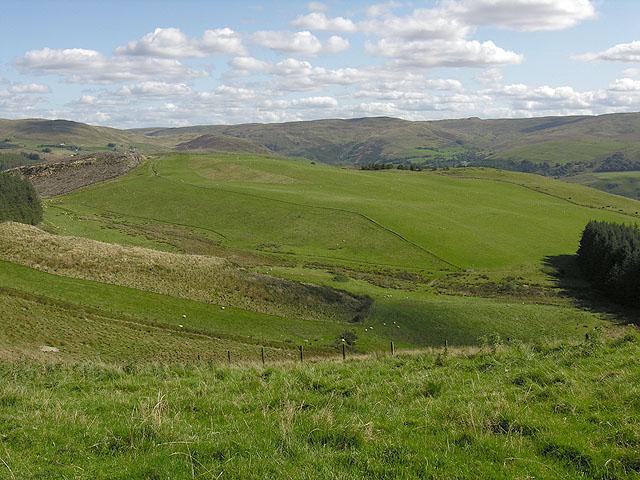 Fields of Pwllpeiran farm