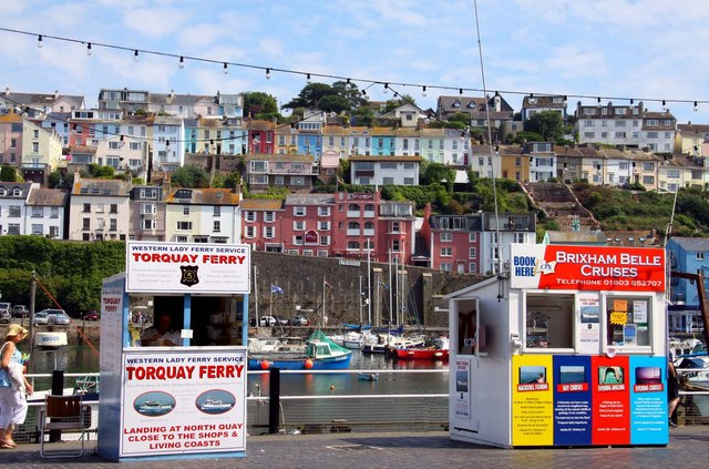 Ferry ticket booths at Brixham