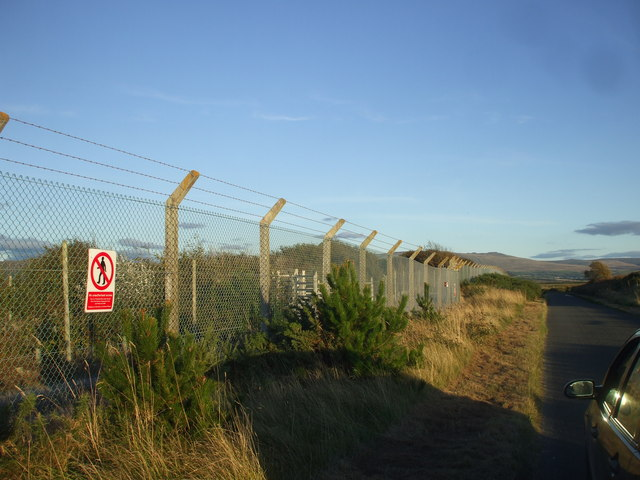 Security fence around the LLW Repository, Drigg
