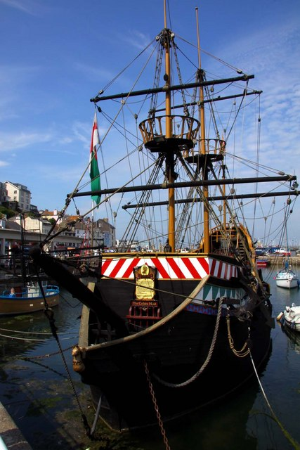 The Golden Hind in Brixham harbour