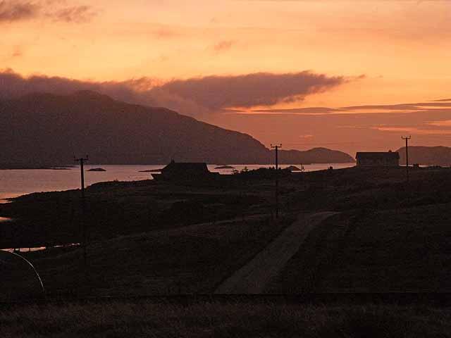 Sunrise over Loch Euphort