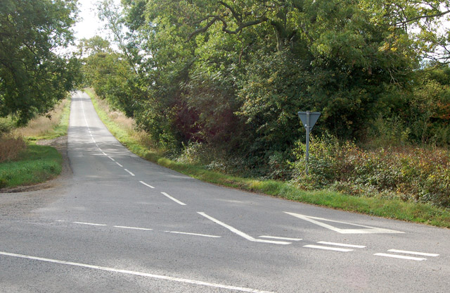 Road junction east of Marston Doles