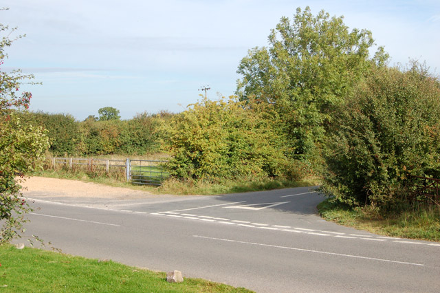 Road junction at Marston Doles