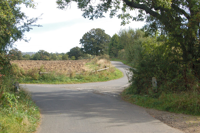 Junction with unclassified road near Marston Doles