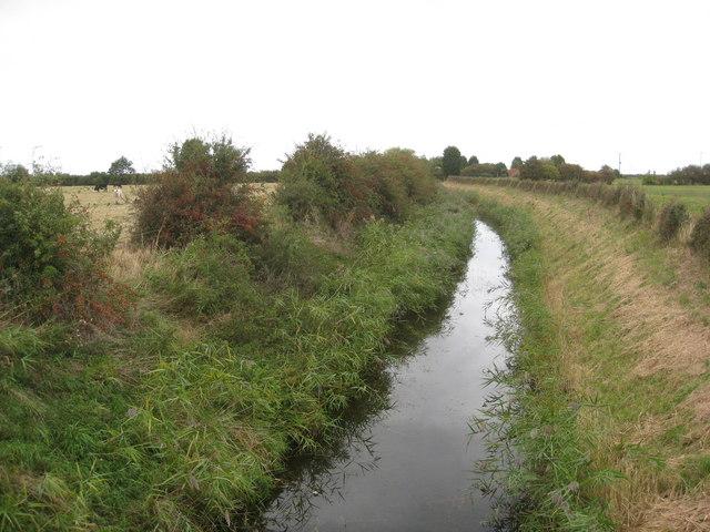Crawcroft Lane view of drain from road bridge