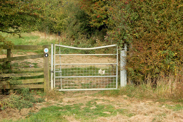 Gate at junction of bridleway and unclassified road