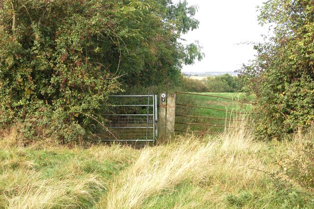 Gate on the bridleway north to Chapel Green