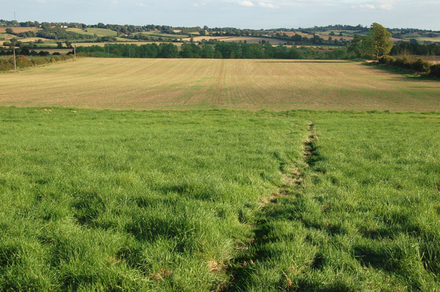Footpath southeast from Flecknoe to Staverton (1)