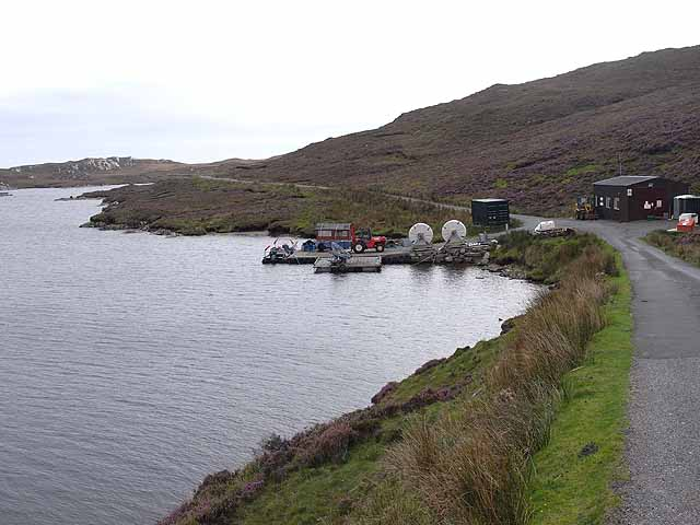 Shore base of the Loch Langabhat fish farm