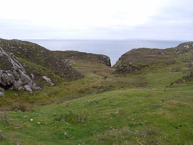 On the clifftop near Rodel