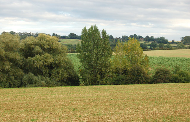 River Leam valley between Flecknoe and Staverton