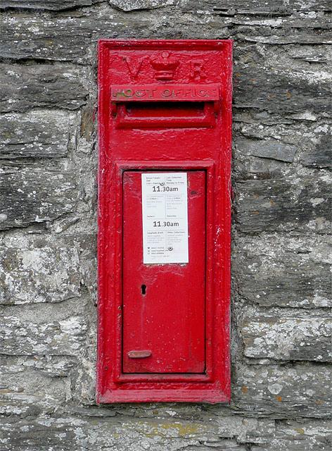 The post box at Abergwesyn, Powys