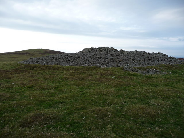 Corndon Hill summit and north east cairn