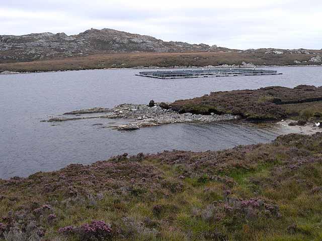Fish farm on Loch Langabhat