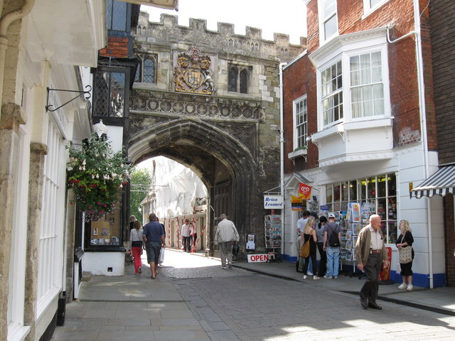 North side of the ancient  High Street Gate,   Salisbury.