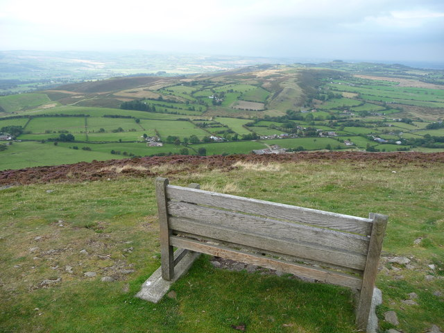 Mitchell's Fold on Stapeley Hill from Corndon Hill summit