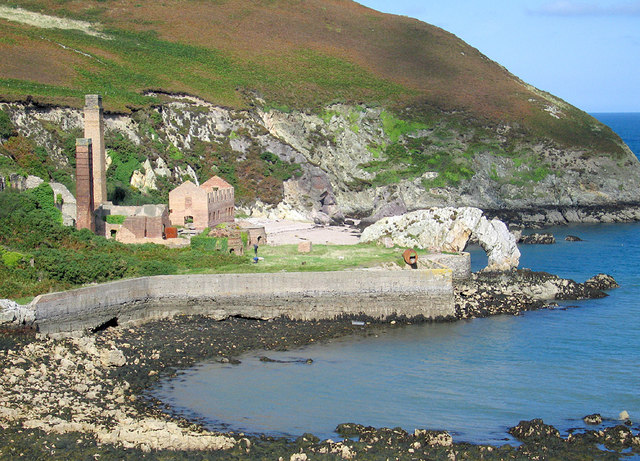 Porth Wen Brick Works and sea arch