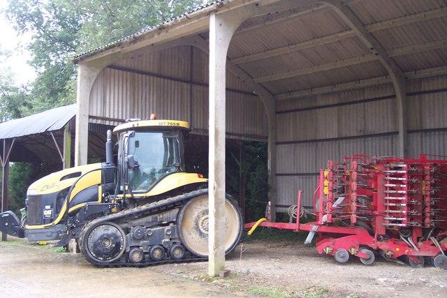 Caterpillar Tractor in Brissenden Farm