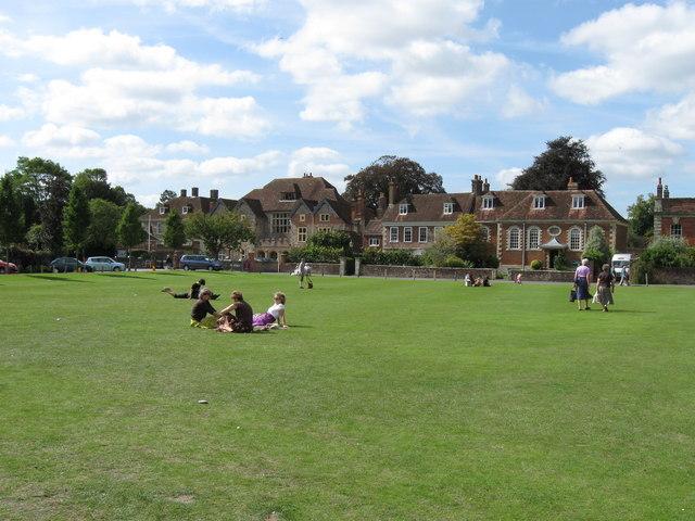 View across The Green,  Salisbury.