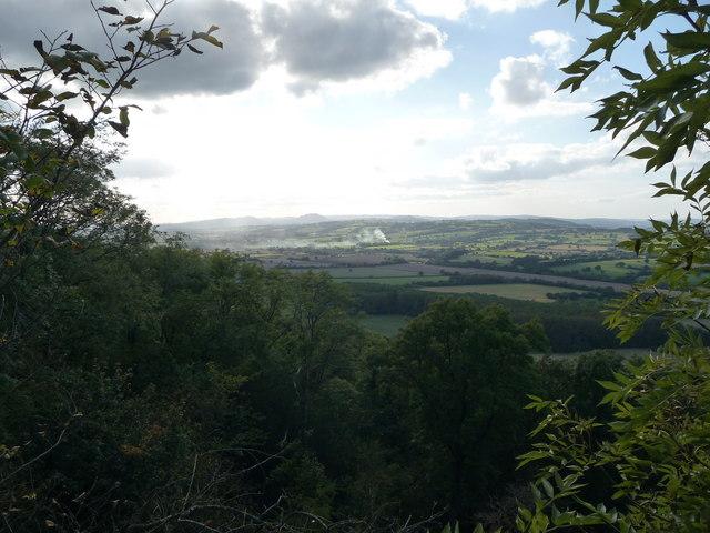 View from Wenlock Edge northwestwards