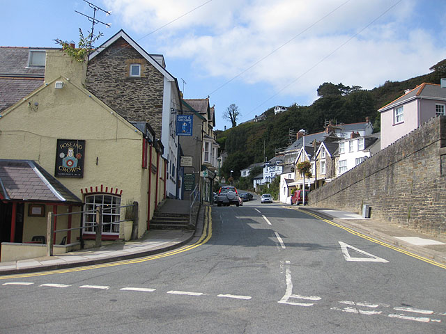 To Goodwick Hill from Station Hill