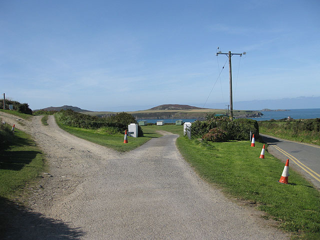 Entrance to caravan and campsite, St Justinian
