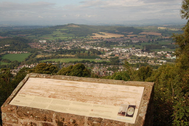View from the Kymin above Monmouth
