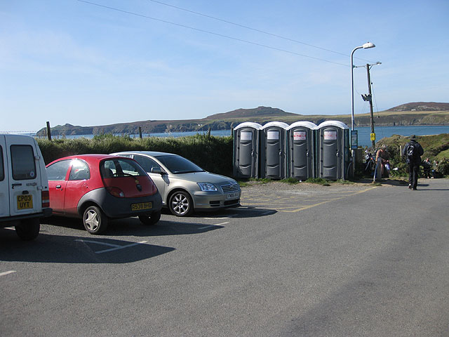 Portable toilets, St Justinian