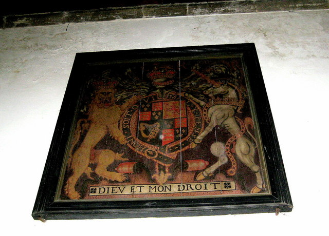 Royal coat of arms - Church of St Edward, King and Martyr