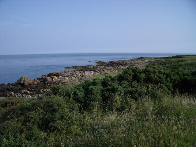 Rocky coastline near Isle of Whithorn