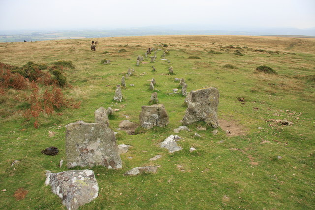 Cosdon Hill Stone Row