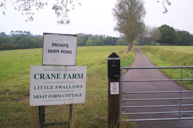 Farm road to Crane Farm
