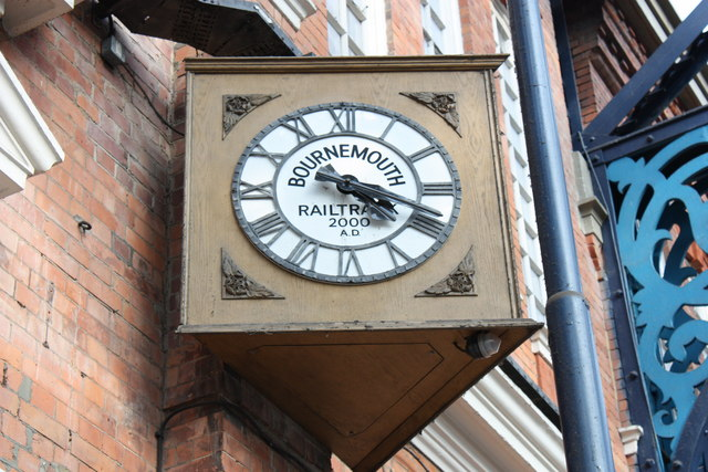 Railtrack clock on Bournemouth Station