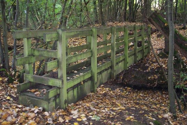Footbridge in Hagues Gill