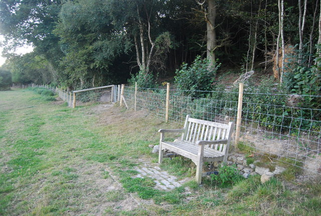Bench on the edge of Scords Wood