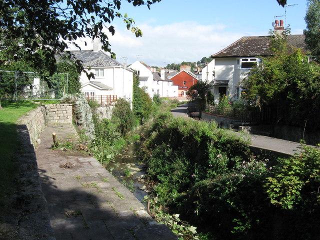 Riverside path to Coombe Street,  Lyme Regis