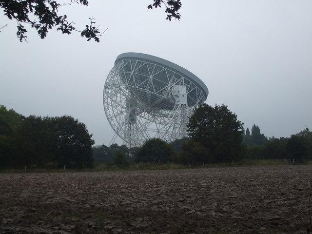 Jodrell Bank Radio Telescope from Bomish Lane