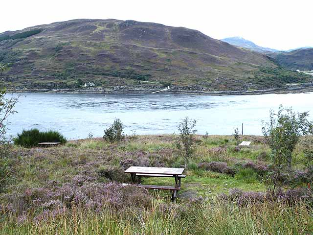 Picnic site overlooking Kyle Rhea