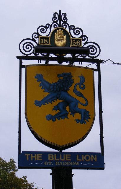 The Blue Lion Public House sign