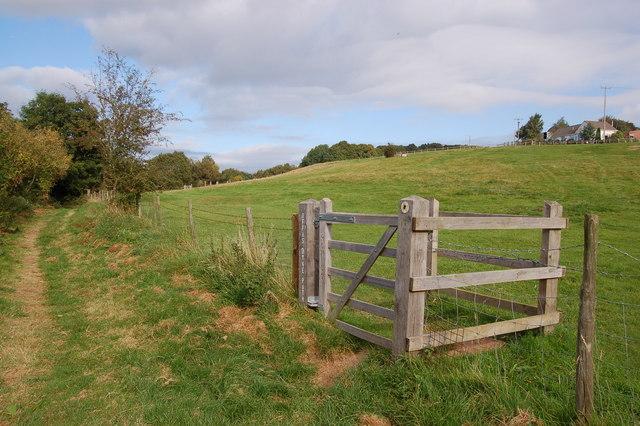 Offa's Dyke footpath near Upper Beaulieu Farm
