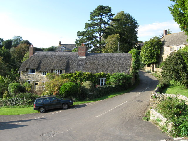 Thatched cottage,  Powerstock,  Dorset.