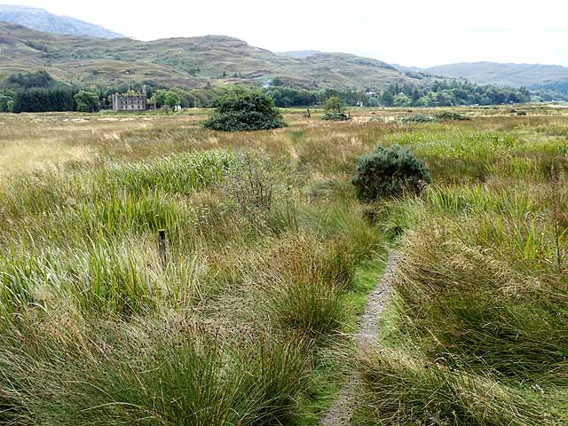 The path to the Bernera Barracks